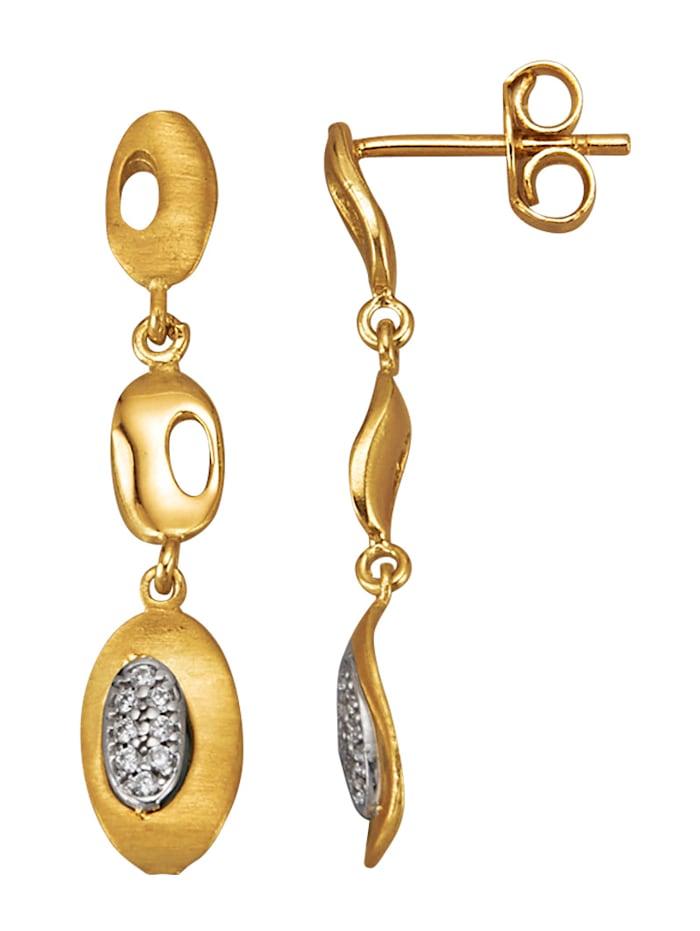 Diemer Gold Oorbellen van 14 kt. goud, Wit