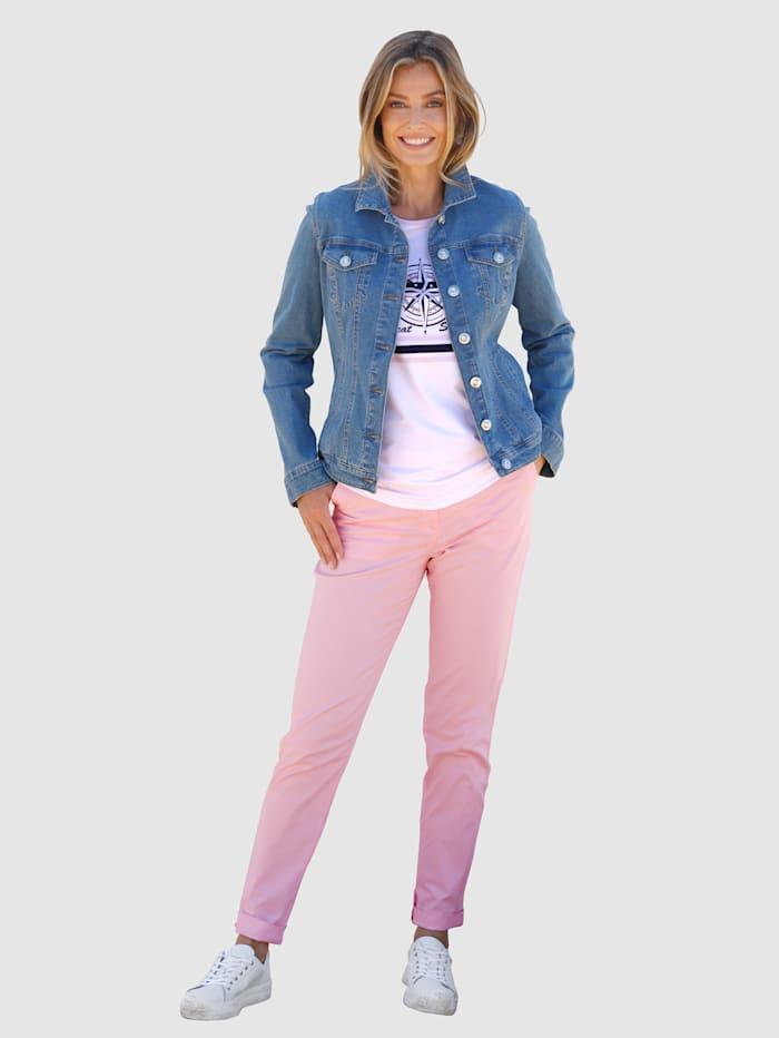 Veste en jean avec boutons fantaisie