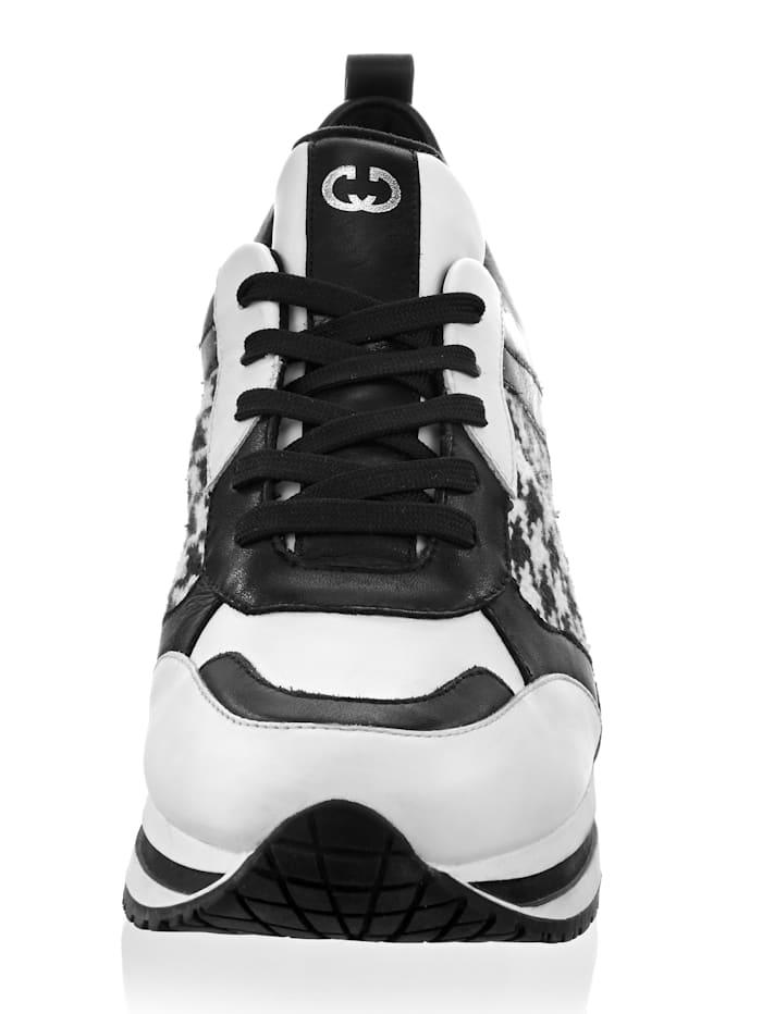Gerry Weber Sneaker mit Muster, Schwarz/Weiß