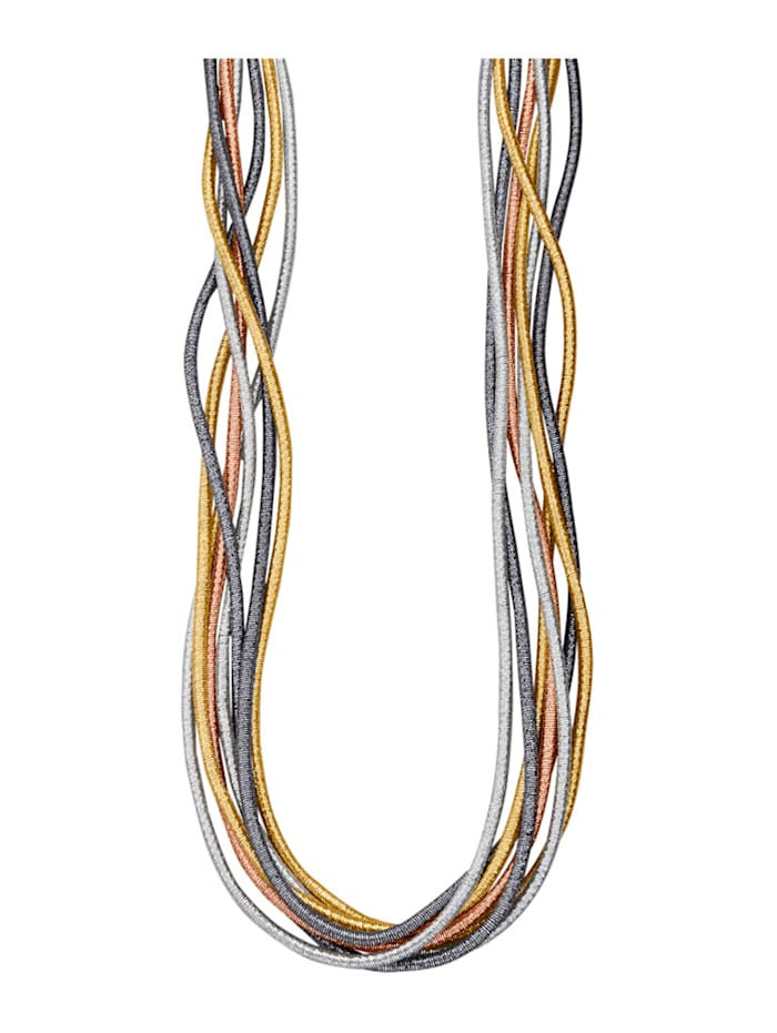 7rhg. Collier goldfarben, Multicolor