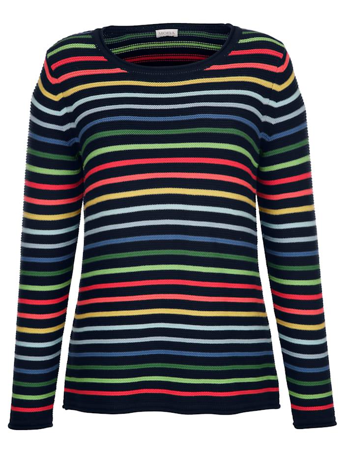 Pullover mit farbenfrohem Ringeldessin