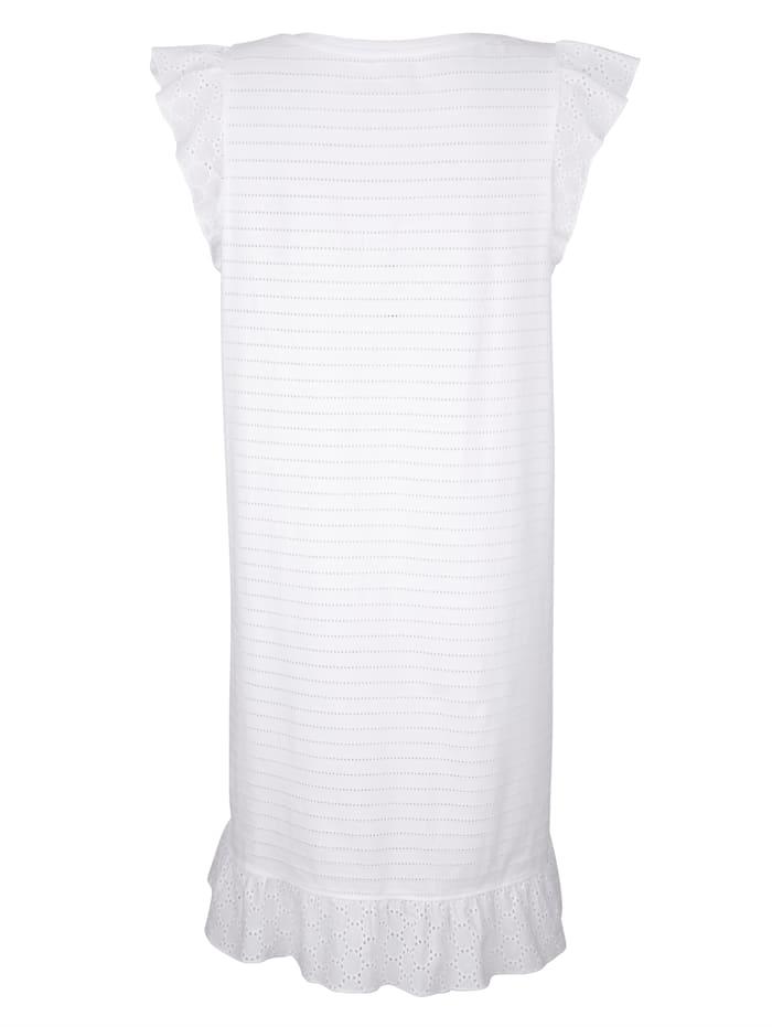Chemise de nuit avec base volantée
