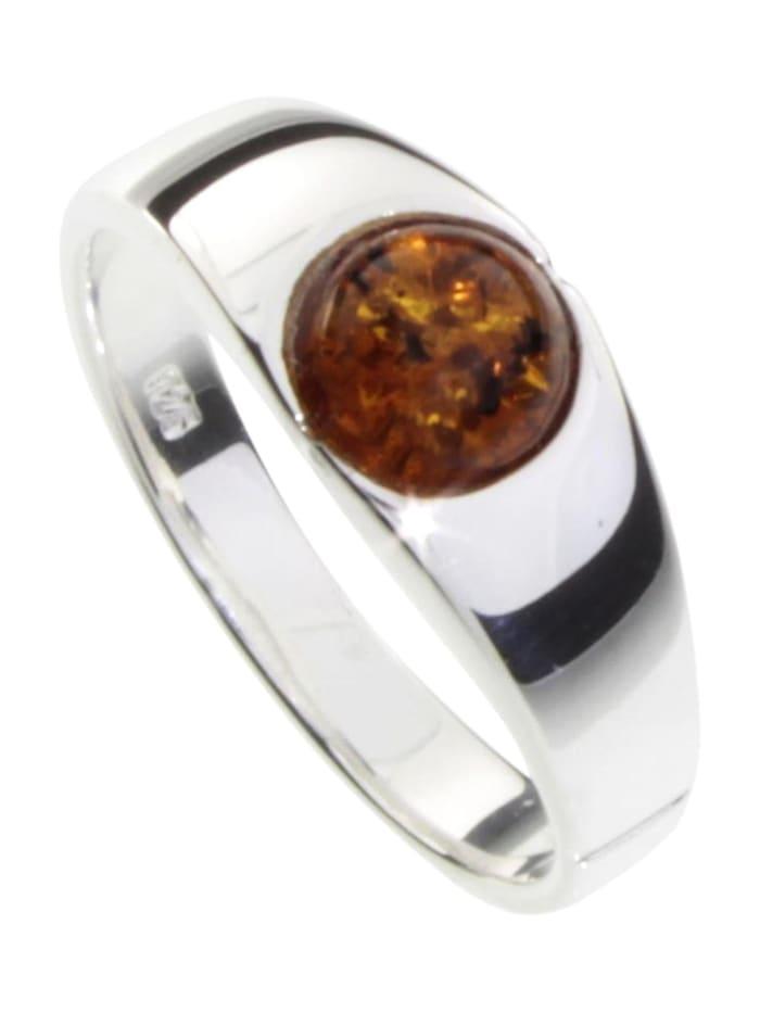 OSTSEE-SCHMUCK Ring - Sina - Silber 925/000 - Bernstein, silber