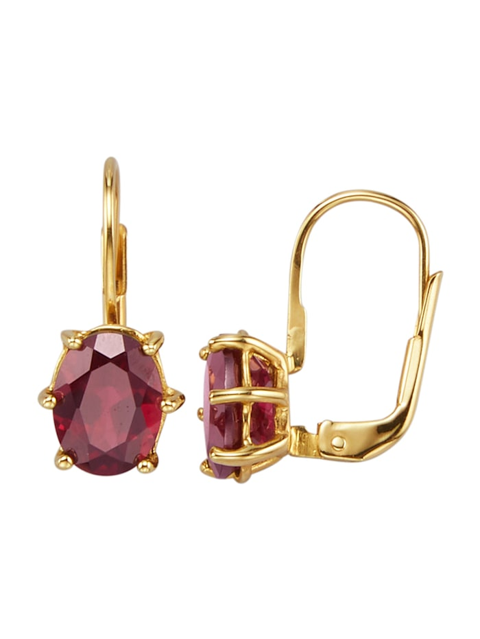 Ohrringe mit Tocantin-Granaten, Rot
