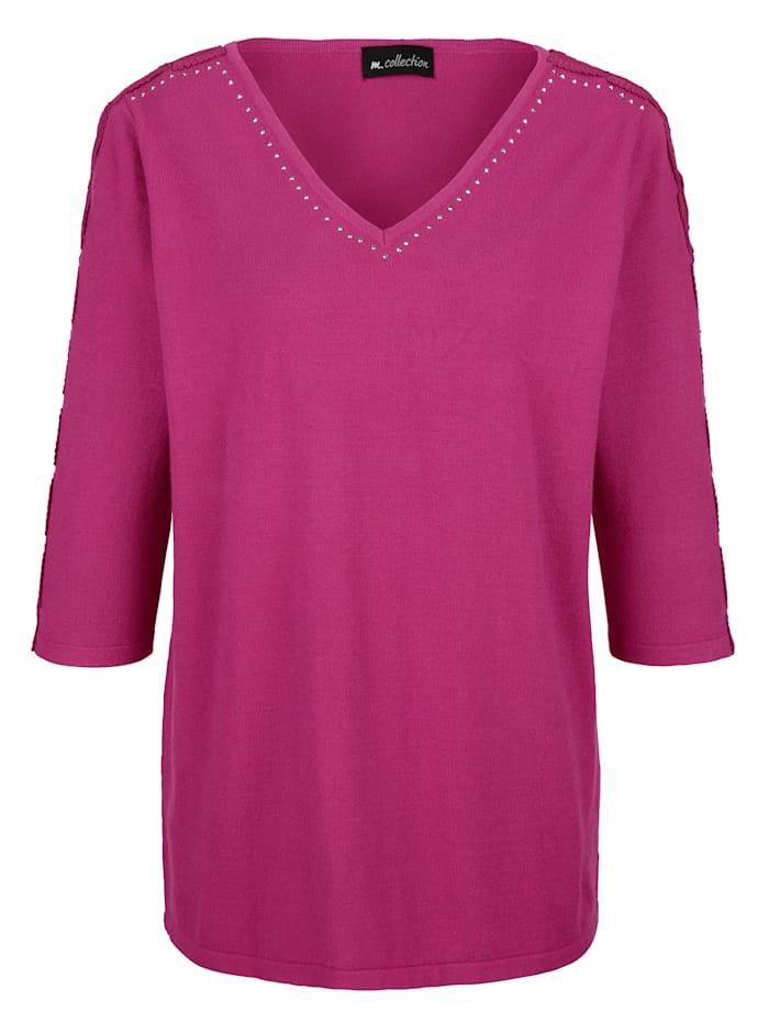 m. collection Feinstrickpullover aus weichem Material, Pink