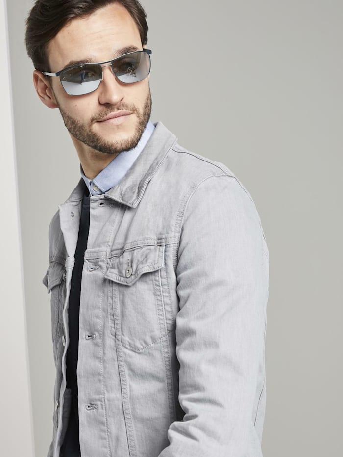 Tom Tailor Verspiegelte Piloten Sonnenbrille mit Federscharnier, light gun black frosted