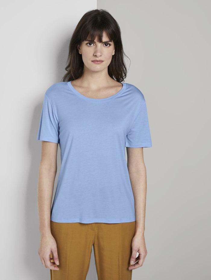 Tom Tailor mine to five Schlichtes T-Shirt aus Lyocell, Soft Charming Blue