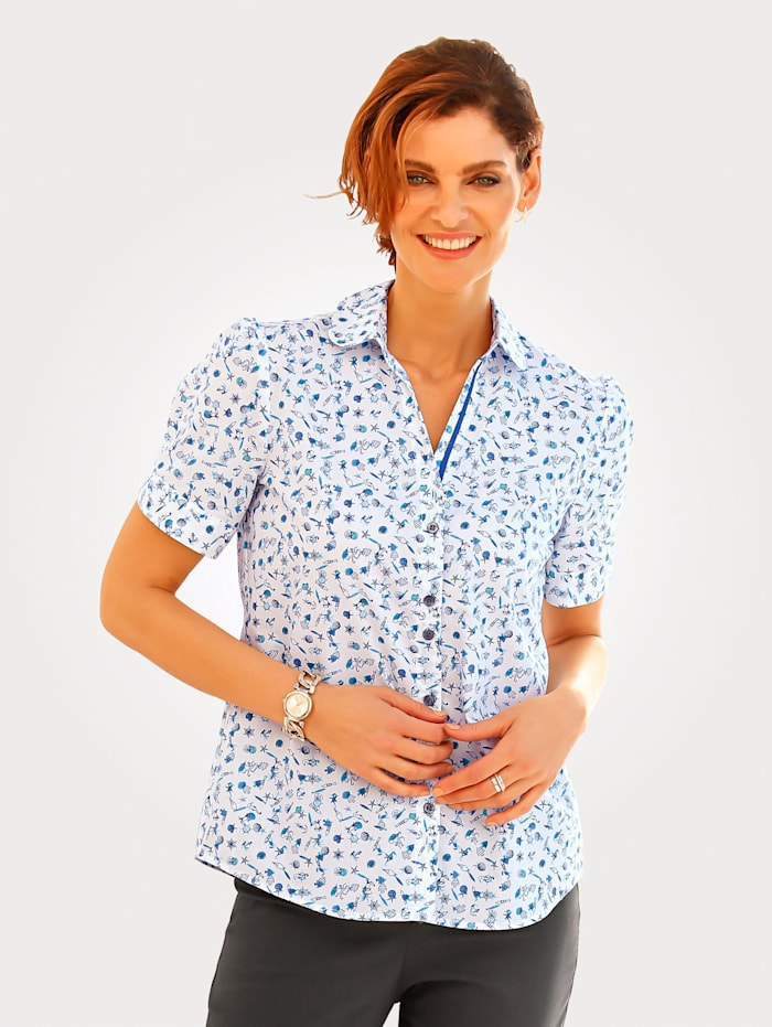 Blouse in pure cotton