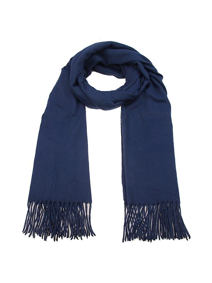 Leslii Schal mit modischen Fransen, blau