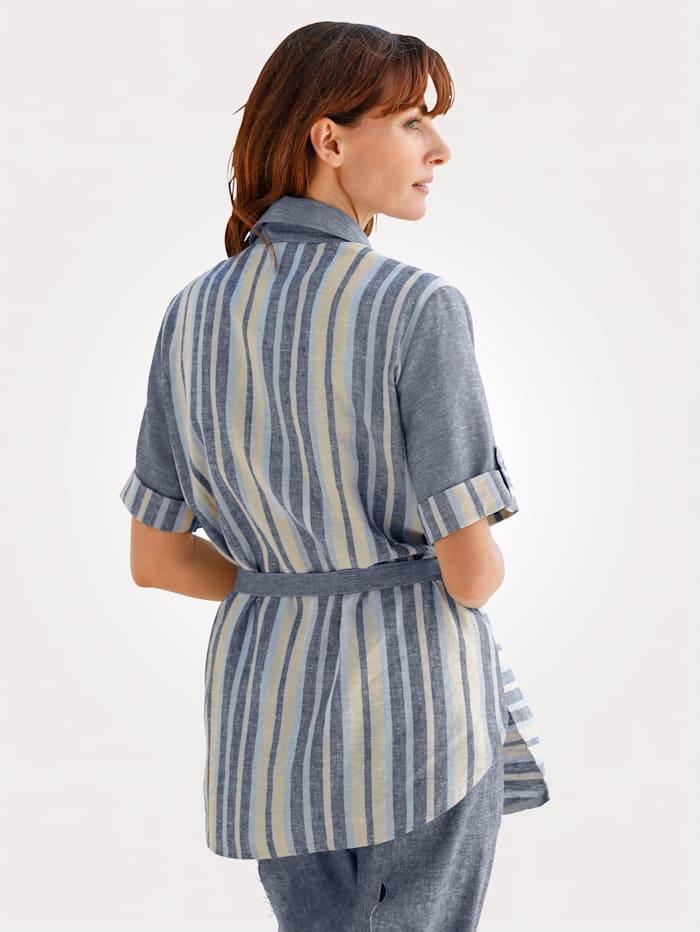 Blouse made from linen blend