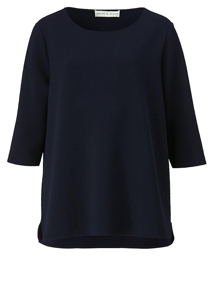 Sweatshirt van structuurmateriaal