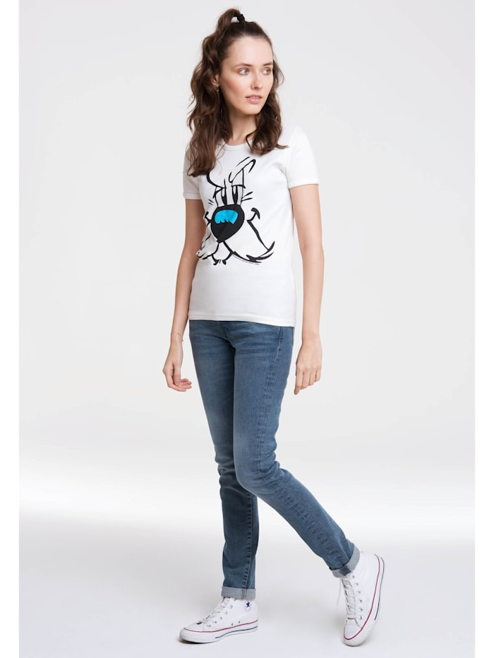 Logoshirt T-Shirt mit lizenziertem Originaldesign, altweiss
