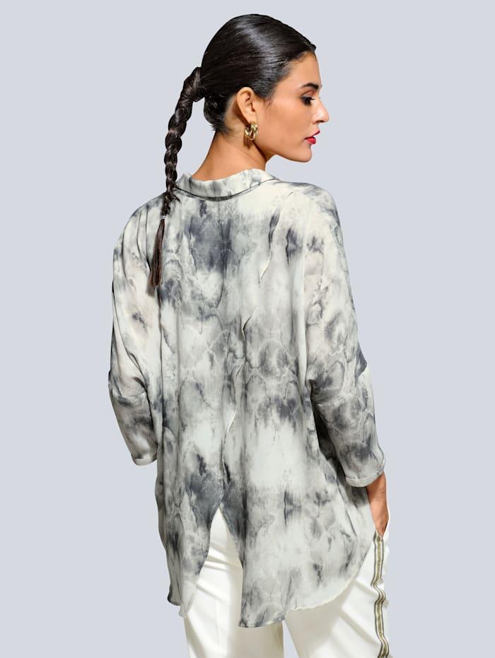 Bluse mit tollem Batik-Dessin