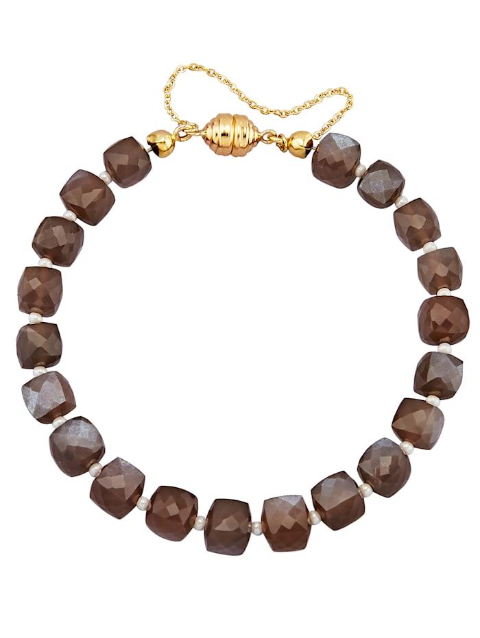 Bracelet en pierre de lune marron