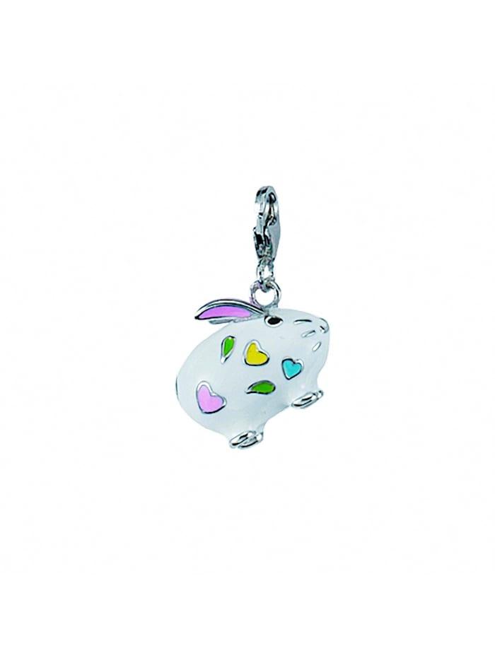 1001 Diamonds Damen Silberschmuck 925 Silber Charms Anhänger Hase, silber