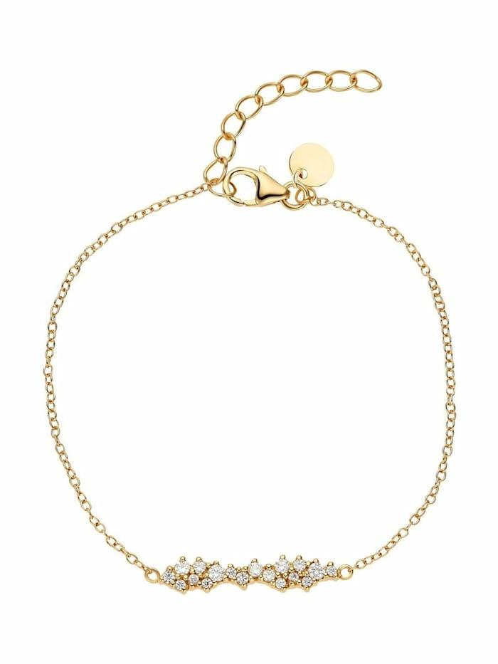 Noelani Armband für Damen, Sterling Silber 925, Zirkonia, Gold