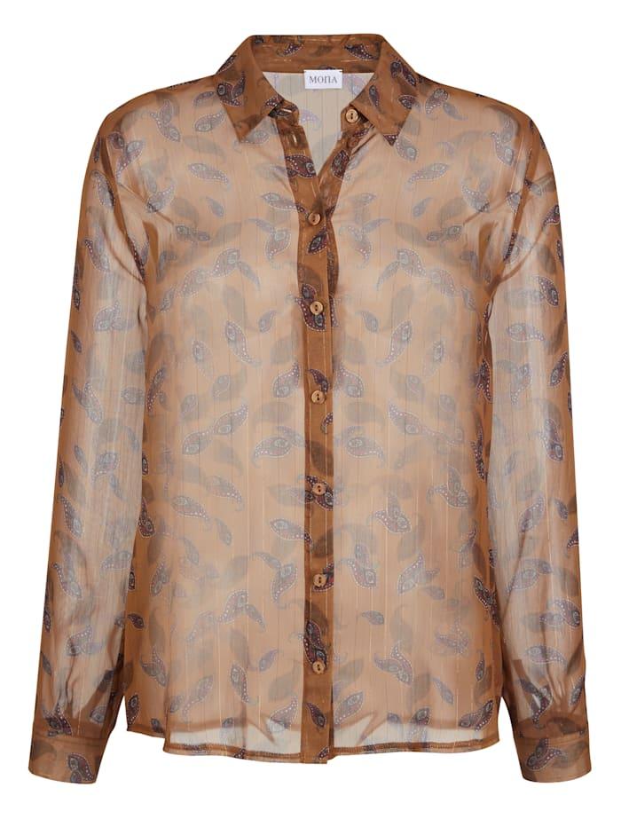 Bluse mit Glanzgarn