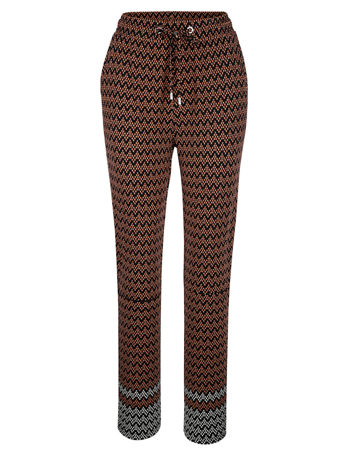 Pantalon à imprimé ethnique tendance