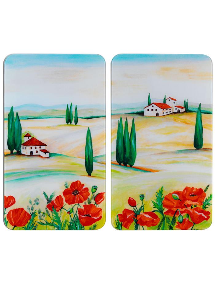 Wenko 2er-Set Herdabdeckplatten 'Toscana', Toscana