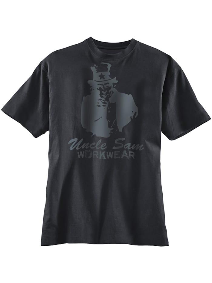Uncle Sam Bekleidung Uncle Sam T-Shirt schwarz, schwarz