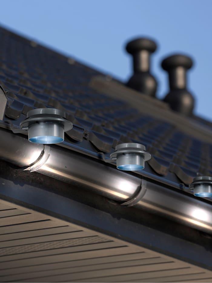 Näve 6 solcelldrivna LED-lampor för stuprännor, Grå