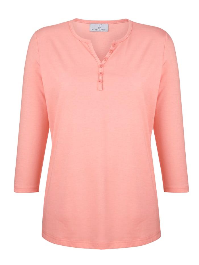 Tričko s ozdobnými knoflíky