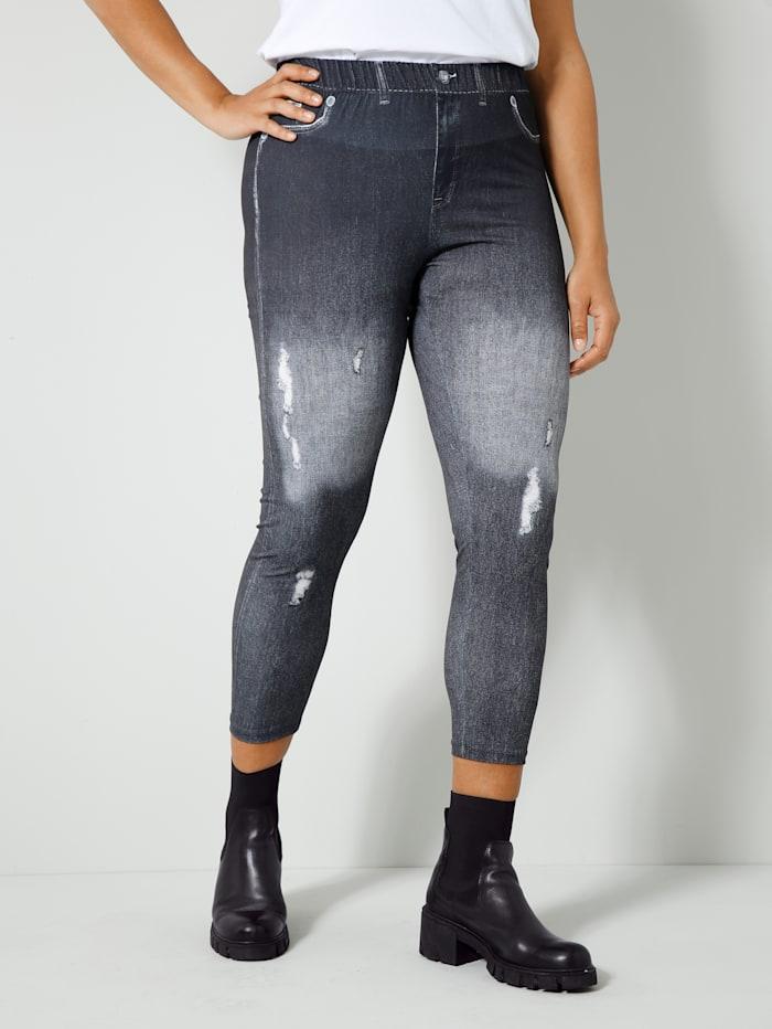 Angel of Style Leggings in Jeans-Optik, Schwarz/Anthrazit