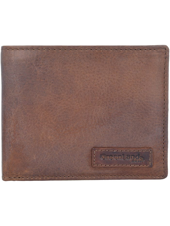 Greenland Soft & Safe Geldbörse RFID Leder 12 cm, braun