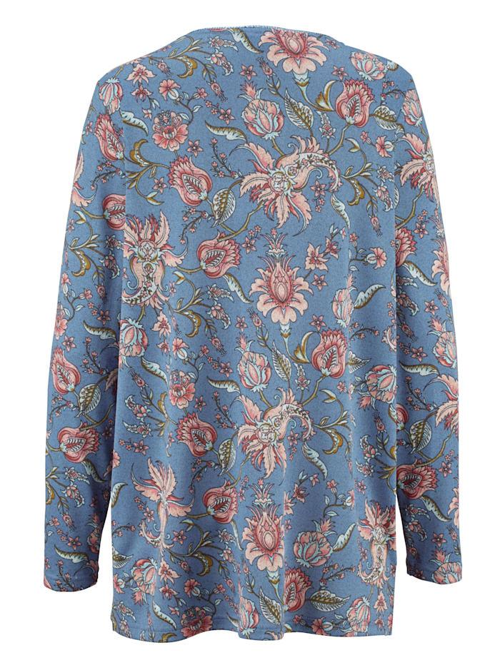 T-shirt en maille fine à imprimé floral