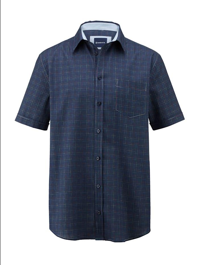 BABISTA Overhemd van zomers slubmateriaal, Marine