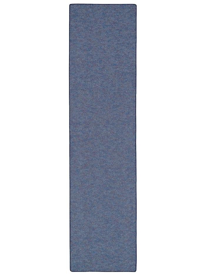 Snapstyle Läufer Teppich Schlingen Teppich Alma Meliert, Blau