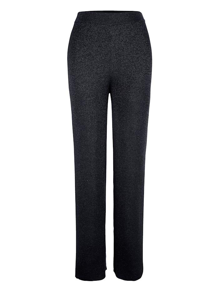 Pantalon en maille à taille élastiquée
