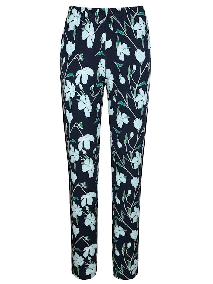 Pantalon à motif floral