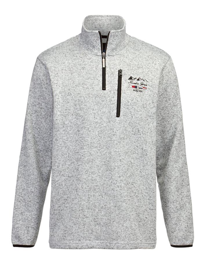 BABISTA Sweatshirt met zachte en warme binnenkant, Grijs