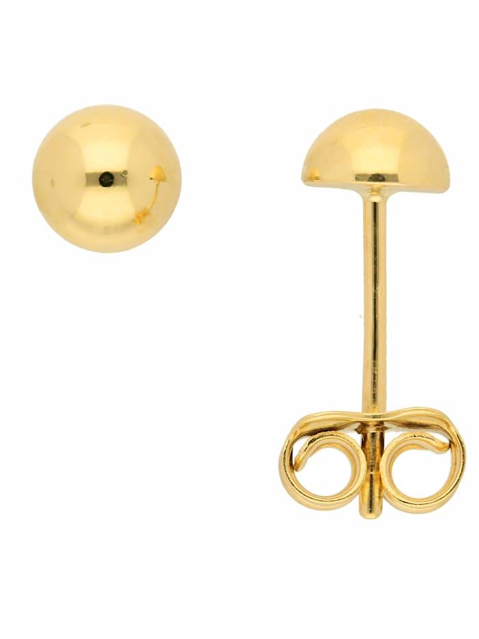 1001 Diamonds 1001 Diamonds Damen Goldschmuck 333 Gold Ohrringe / Ohrstecker Ø 5 mm, gold