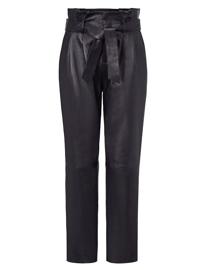 SIENNA Pantalon en cuir, Anthracite