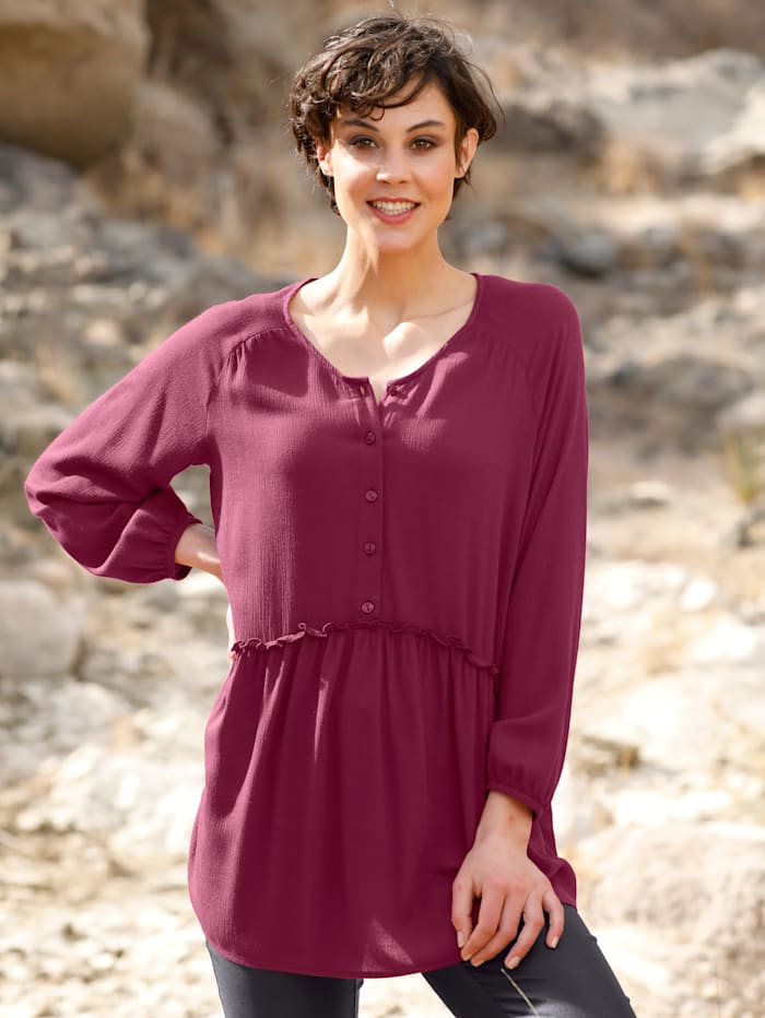 Dress In Longbluse in langer Form, Fuchsia