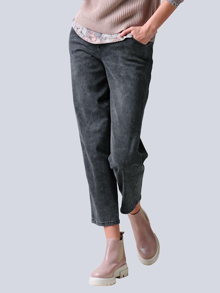 Alba Moda Jeans in angesagten Mom-Fit-Style, Grey