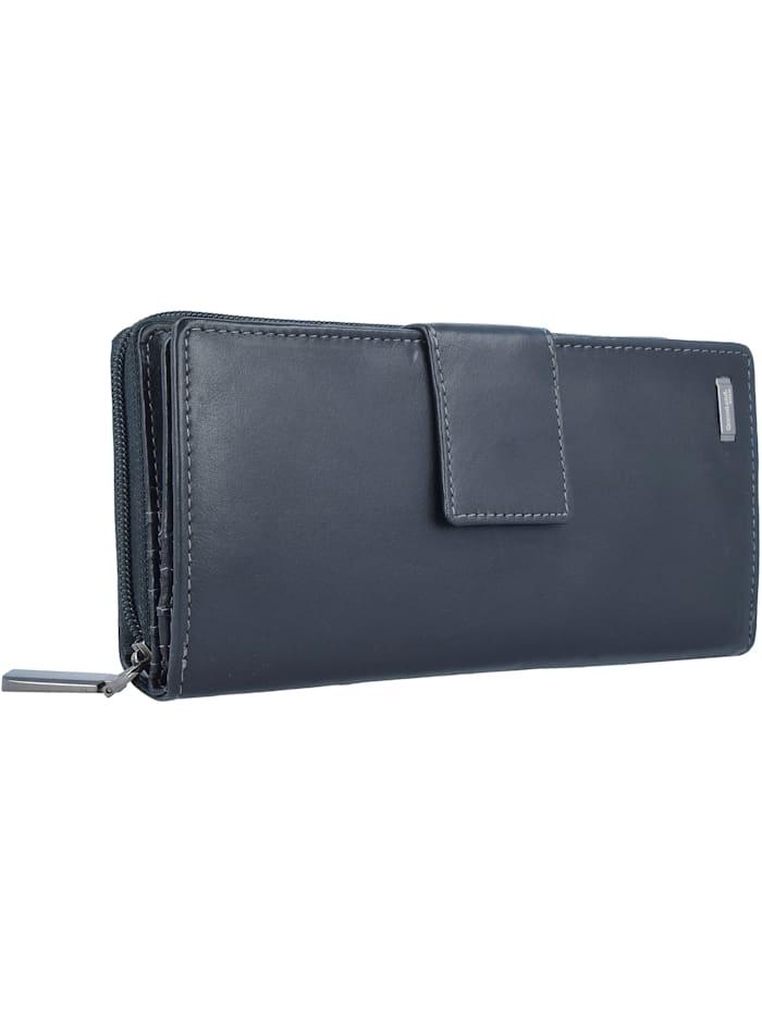 Black Nappa Geldbörse RFID Leder 20 cm