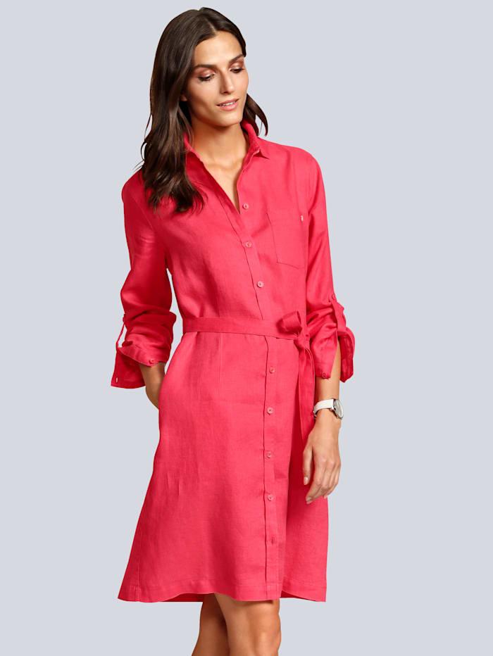 BRAX Kleid aus reinem Leinen, Rot