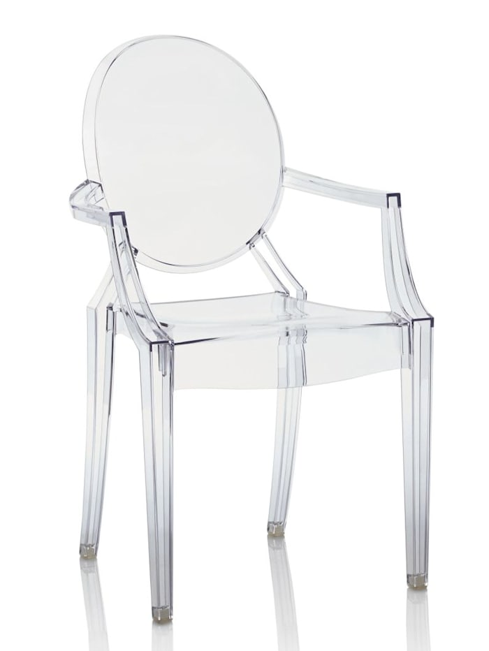 Kartell Stuhl, Louis Ghost, transparent