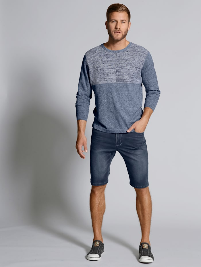 Men Plus Bermuda Jog-Denim, Dark blue