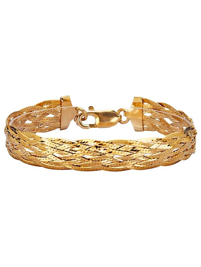 Golden Style Herringbone-Armband, Gelb