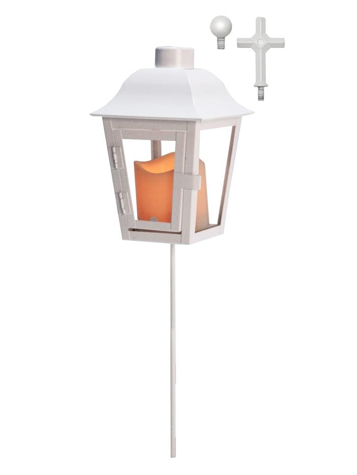 Star Trading Lanterne LED avec pointe interchangeable, Blanc