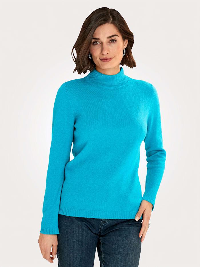 MONA Pullover aus reinem Kaschmir, Türkis