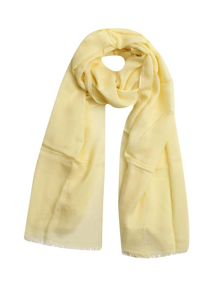 SAMAYA Modeschal Breitschal Illot, gelb