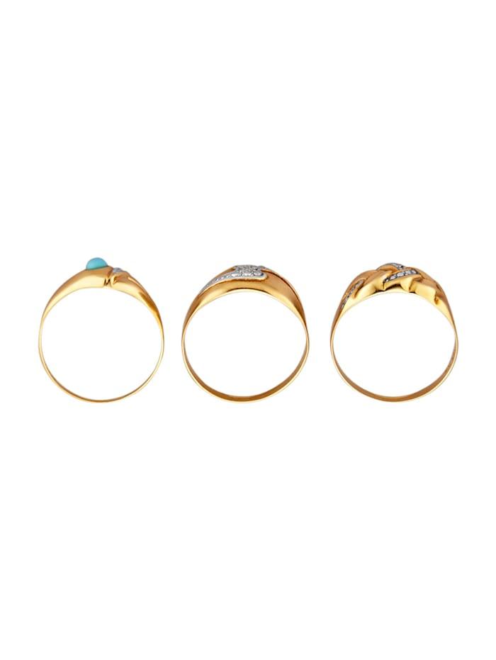 3tlg. Ring-Set