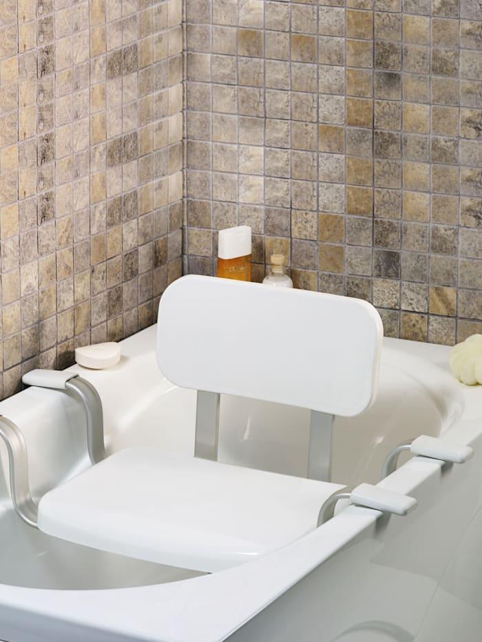 B&B Bischof Siège pour la baignoire avec dossier, blanc