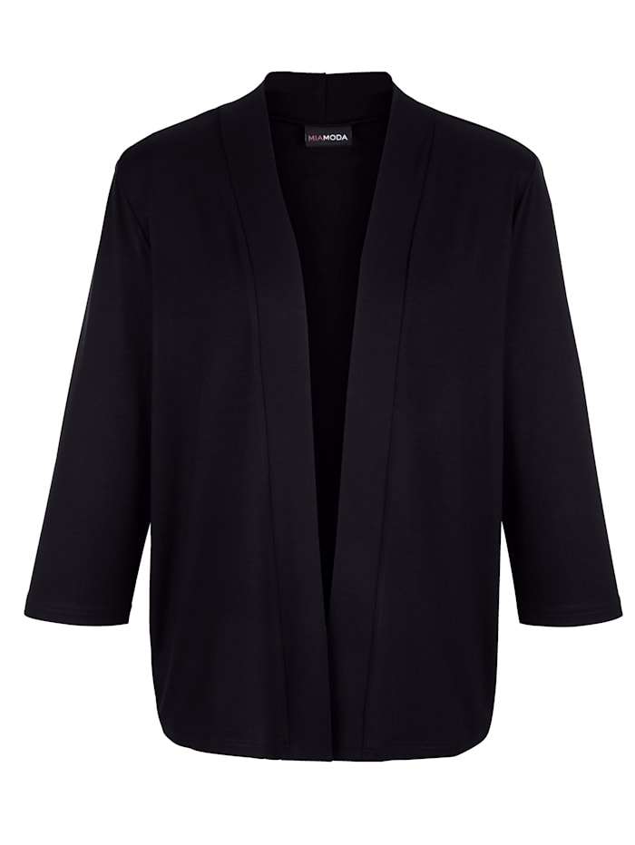 MIAMODA Shirtjacke in modisch verkürzter Form, Schwarz