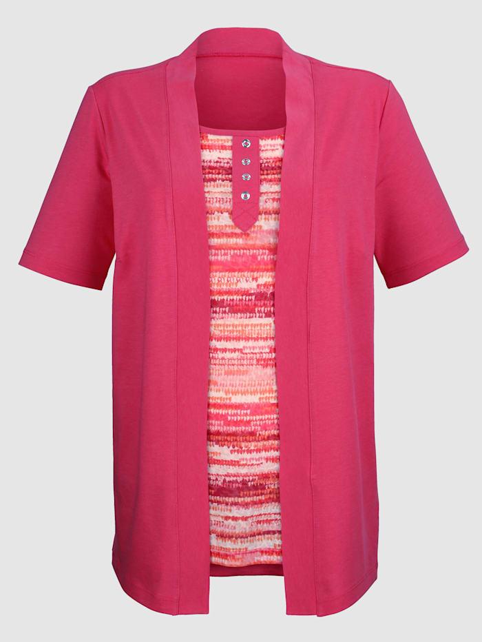 2-in-1-shirt met print in heldere kleuren
